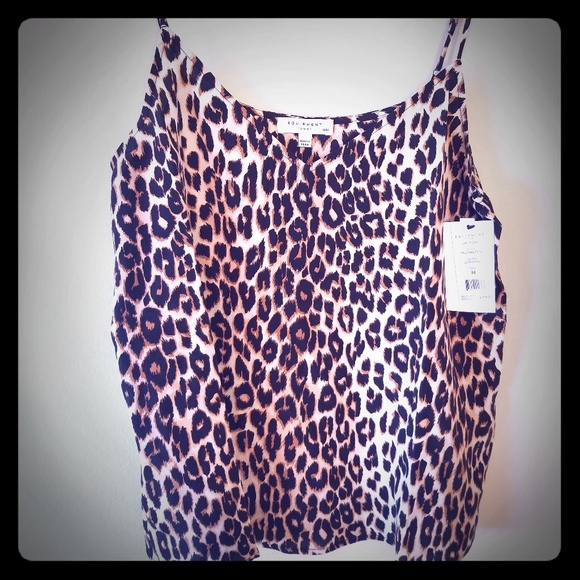 Equipment Tops - Equipment Leopard Layla Cami Top - NWT